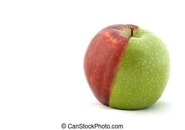 Fifty fifty - An apple made from half green and half red