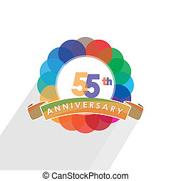 fifty-five anniversary logo design