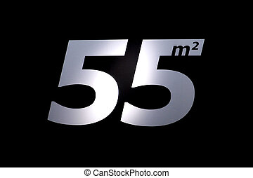 Fifty five square - Photo fifty-five square sticker white ...