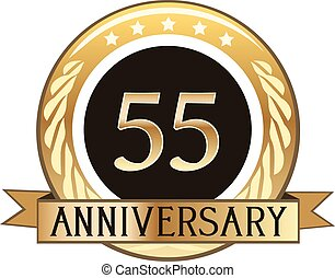 Fifty Five Year Anniversary Badge