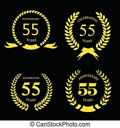 fifty five  years Anniversary golden label