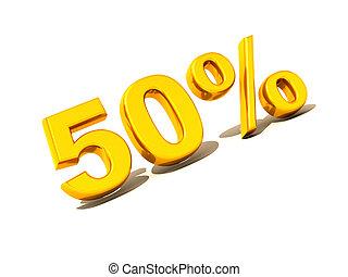 Fifty percent. Gold