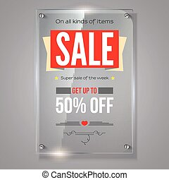 Fifty percent holiday discounts. Iformation on transparent...