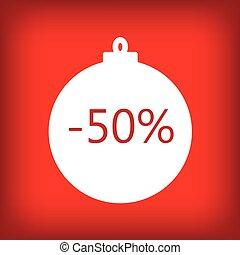 fifty percent sale sticker tag