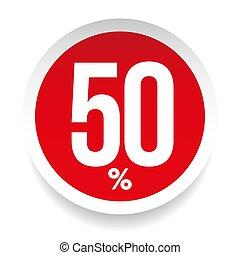 Fifty percent sale sticker