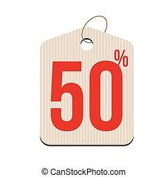 Fifty percent Sale tag