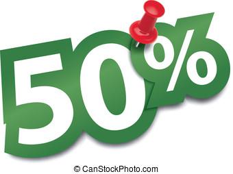 Fifty percent sticker