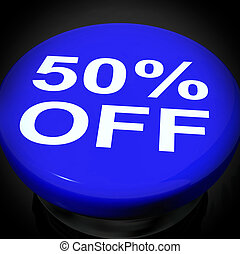 Fifty Percent Switch Shows Sale Discount Or 50 Off
