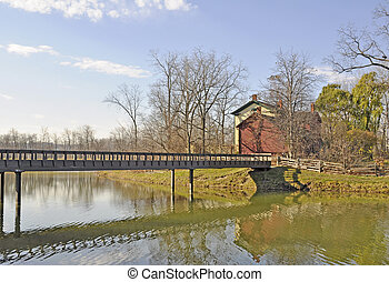 Fifty Point conservation area Hamilton - wooden bridge ...