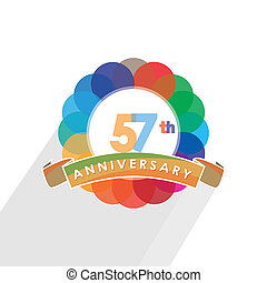 fifty-seven anniversary logo design