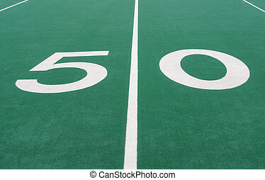 Fifty Yard Line in Football