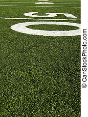 Fifty yard line of an american football field