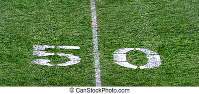 Fifty Yard Line. - Football fifty yard line makes for a...
