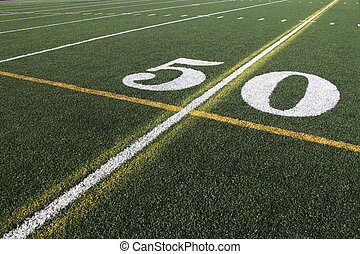 Fifty Yard Line on a football field