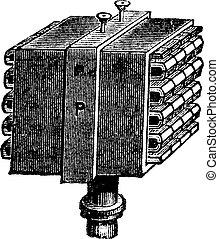 fig., 1., -, thermopile, vendemmia, engraving.