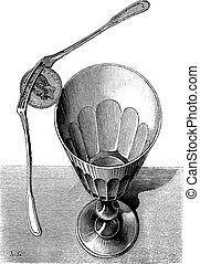 Fig. 2. The Balancing Forks magic trick, vintage engraving.