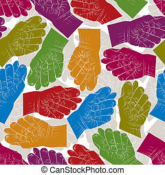 Fig fico hands seamless pattern, vector background for...