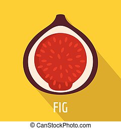 Fig icon, flat style