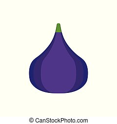 Fig icon in flat design.