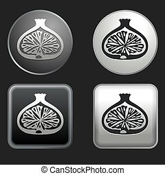 fig icon on round and square buttons