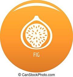 Fig icon vector orange - Fig icon. Simple illustration of...
