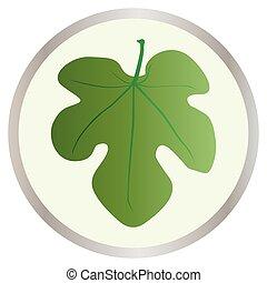 Fig Leaf Button