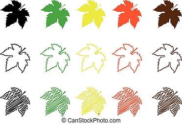 Fig leaf color set