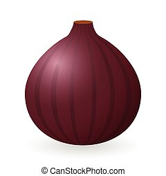 Fig vector isolated - Vector illustration of fig isolated on...