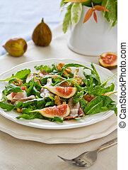 Fig with Prosciutto, Walnut salad