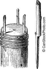 Fig.4 Crown graft or Rind graft vintage engraving