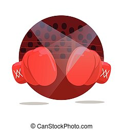 fight boxing gloves flat icon punch