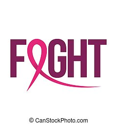 Fight (Breast Cancer) - hand drawn Breast Cancer Awareness month