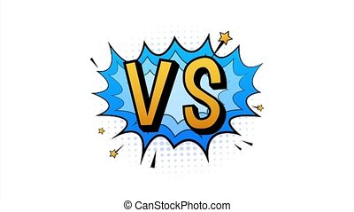 Fight comic speech bubble with expression text VS or versus. Stock illustration