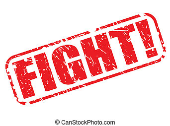 Fight red stamp text on white