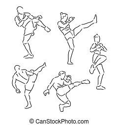 fight sport sketch