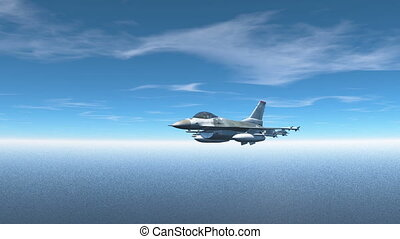 3D CG rendering of a fighter.