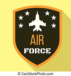 Fighter air force logo, flat style