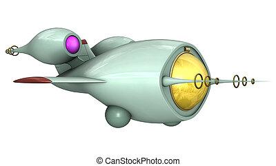 Fighter Hornet - 3D digital render of a toon fighter hornet...