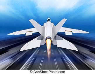 fighter-interceptor aircraft - white fighter interceptor is...