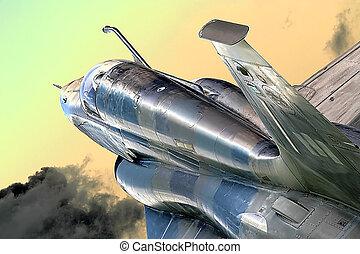 Fighter Jet - Fighter jet on patrol