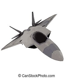 fighter jet vector image