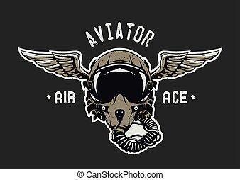 Fighter Pilot Helmet.