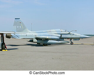 Fighter plain 20202 - A fighter plain on an air show in...