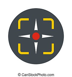 Fighter target icon, flat style