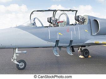 fighterjet cockpit - cockpit of a two seater fighter jet
