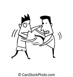 fighting boy illustration vector