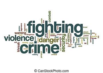 Fighting crime word cloud