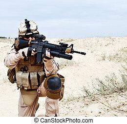 Fighting for Motherland - US marine in the desert through...