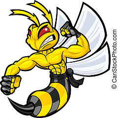 Fighting Hornet in battle ready position. Separated into...