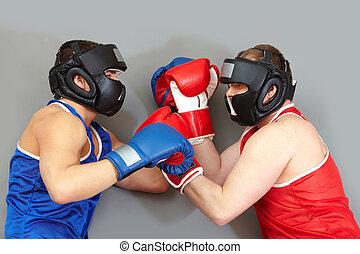 Fighting in helmets